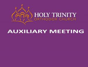 Auxiliary Meeting Sunday, Jan. 3rd @ Coffee Hour