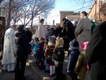Procession from Holy Cross and Blessing of McMichael's Creek with Church School Children