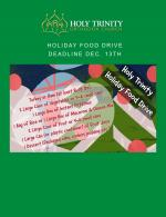 HOLIDAY FOOD DRIVE DEADLINE
